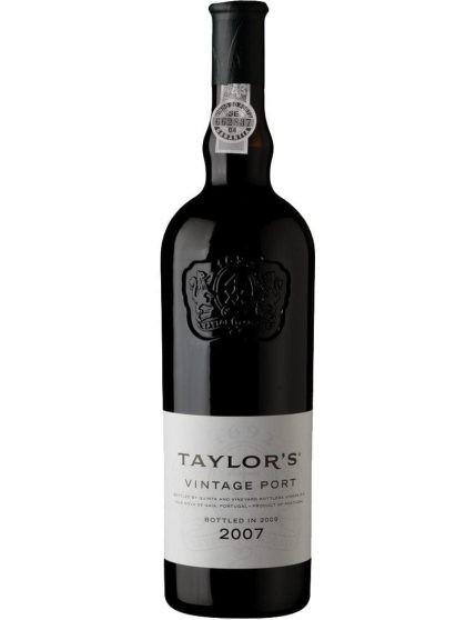 A Bottle of Taylor's Vintage 2007 Port Wine