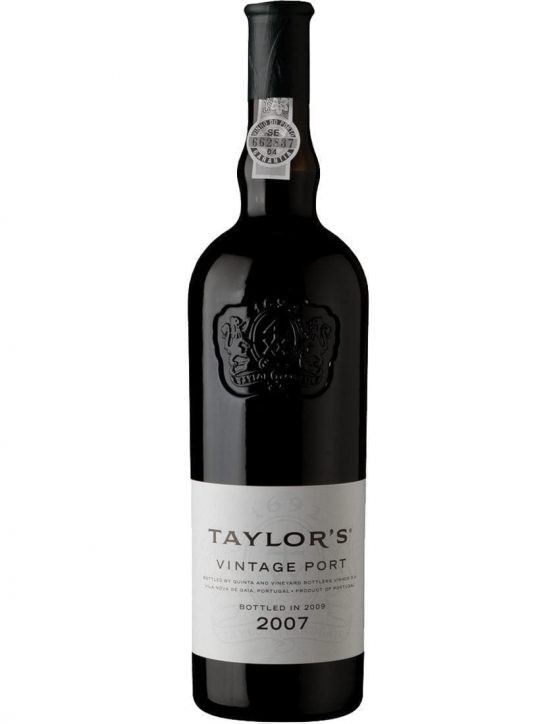 A Bottle of Taylor's Vintage 2007 Port Wine