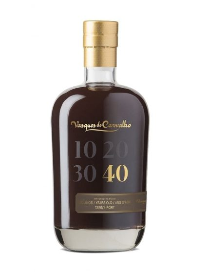 A Bottle of Vasques de Carvalho 40 Years Tawny