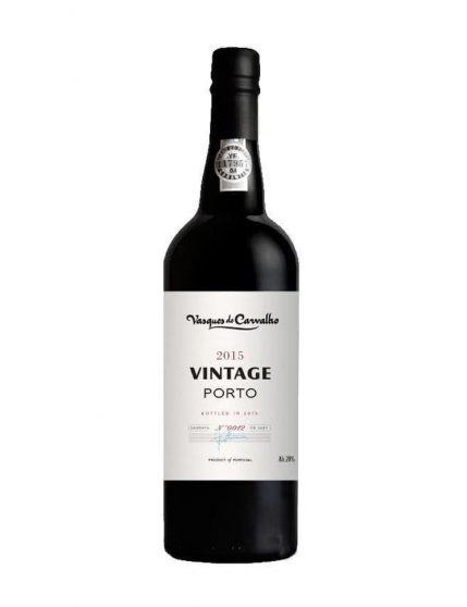 A Bottle of Vasques de Carvalho Vintage 2015 Port Wine