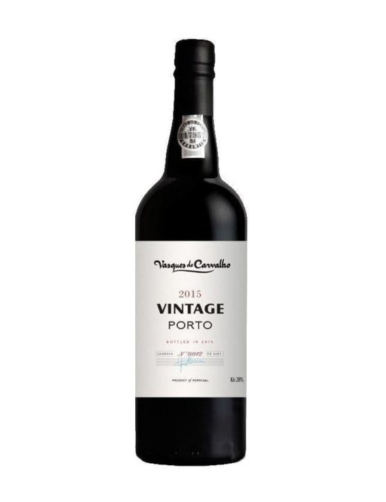 A Bottle of Vasques de Carvalho Vintage 2015 Port Wine