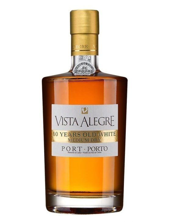 A Bottle of Vista Alegre 10 Years White Medium Dry