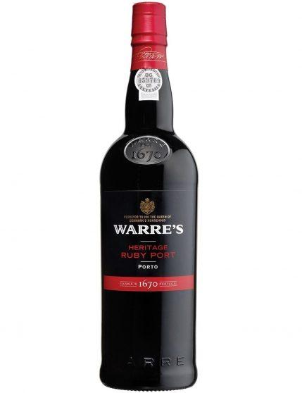 A Bottle of Warre's Heritage Ruby Port Wine