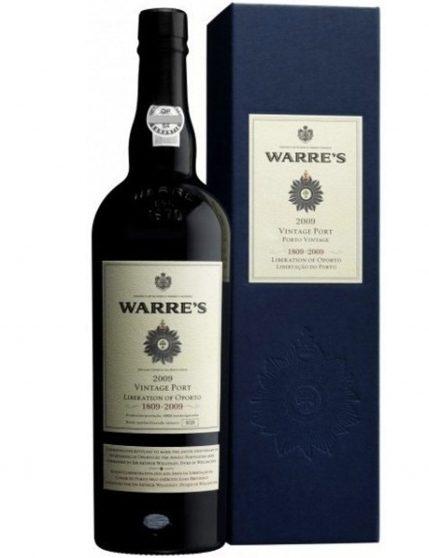 A Bottle of Warre's Vintage Liberation of Oporto 2009