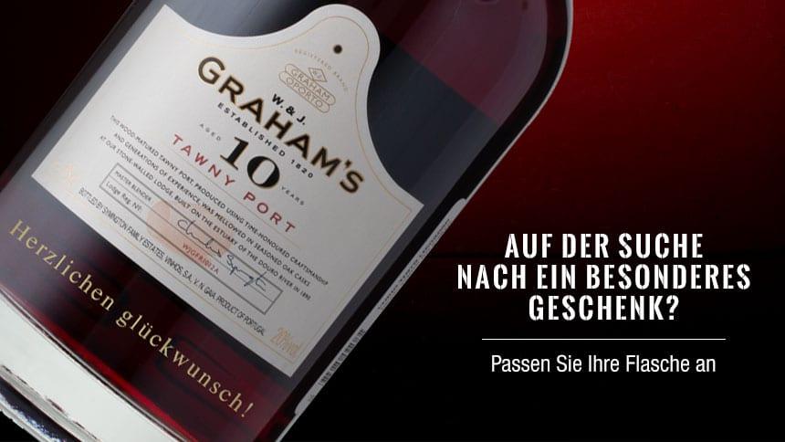 Besonderes Geschenk - Gravieren Sie Ihre Portweinflasche