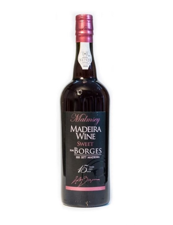 H M Borges 15 Years Malmsey Madeira