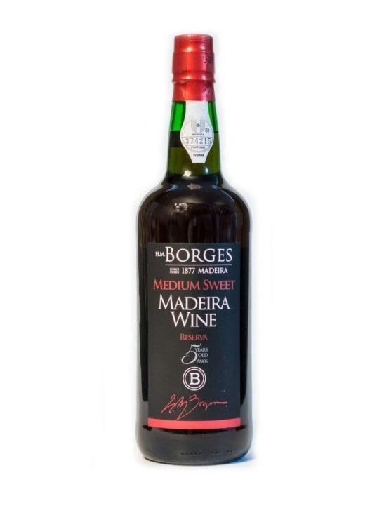 H M Borges Reserve Medium Sweet 5 Years Madeira